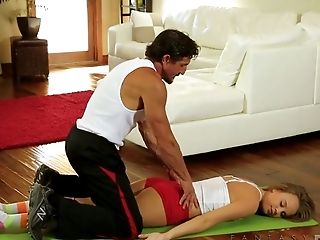 Alexis Adams has an unhealthy obsession with her yoga instructor's cock