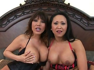 Kitty Langdon and her slutty friend enjoy the same fuck buddy