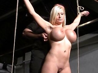 BDSM, Big Tits, Blonde, Bold, Bondage, Caucasian, Couple, Domination, Electrified, Ethnic,