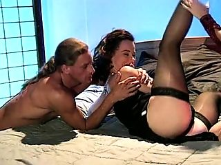 Mind-blowing rimjob during a hot FFM threesome with Alex Dane