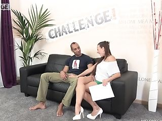 Mea Melone loves pleasing new men on her casting couch