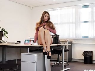 Taylor Sands Horny af at the office DaringSEX.com