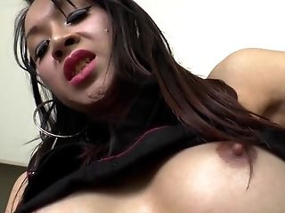 Transexual cum covered
