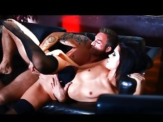 Brunette Megan Foxxx takes a dream shower in cumshot action