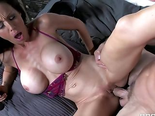 Naughty police office fucks tight asshole of MILF McKenzie Lee