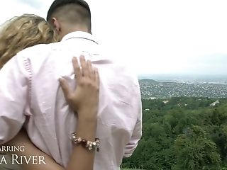 Alluring slim babe Shona River gets her anus fucked on the first date