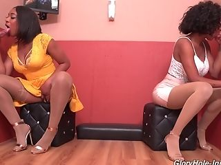Kinky gloryhole fun with naughty babes Lala Ivey and September Reign