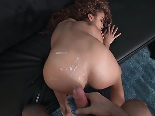 Seductive home porn with the curly haired beauty who loves it hard