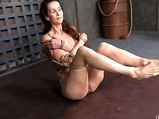 Fit granny submits to the wildest bondage pain of her life