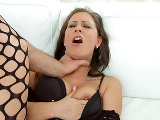Olivia Netta is a horny slut in a kinky outfit in need of a butt shag