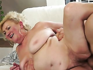 Blonde with giant jugs enjoys some passionate sex