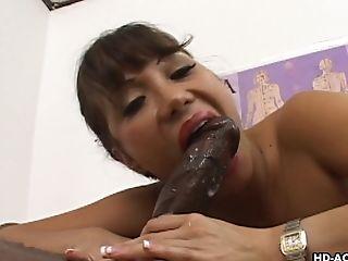 Ava Devine seduces a black lover for a cock riding session