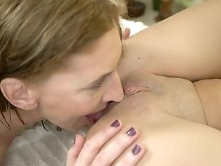 Lesbians are enjoying XXX moments on the massage table