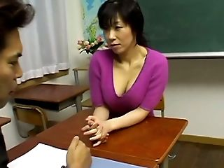 Fondling, Japanese, Lingerie, Teacher,