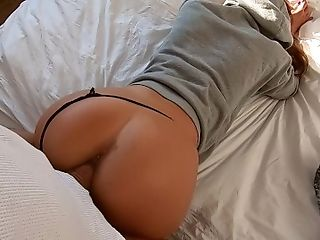 Fit amateur young wife back from training-morning sex