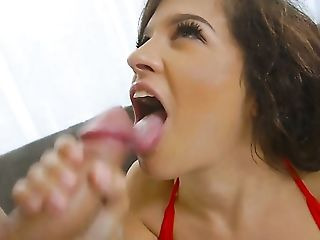 Senora with juicy breasts finds it exciting to be jizzed on