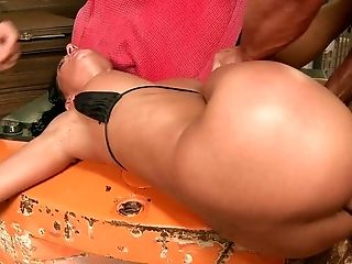 Anal Sex, Babe, Blowjob, Brunette, Cum, Facial, Sexy, Threesome,