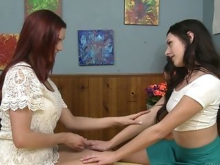 Amazing lesbian scissoring with Jayden Cole and Megan Sage