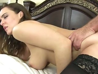 Plump babe with huge boobs Natasha Nice gets her pussy slammed