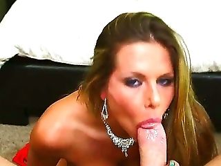 Dreamy and busty babe Rachel Roxxx suckling and pleasing a massive and fat cock before deep-throating