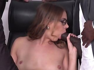 Anal Sex, Babe, Big Cock, Blowjob, Brunette, Cum In Mouth, Dick, Double Penetration, Facial, Interracial,