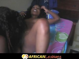 Young black lesbians fingering in Africa