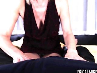 Hot woman over 65 Erica Lauren is jacking off hard and big cock