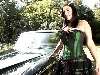 Incredible pornstar Michelle Bond in crazy solo, outdoor porn movie