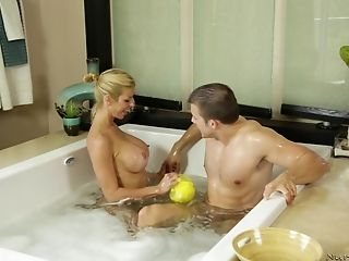Alexis Fawx, Amazing, Bathroom, Big Tits, Blonde, Blowjob, Cowgirl, Cumshot, Doggystyle, Hardcore,