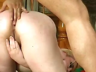 fatty russian  mature  loves hard anal creampie