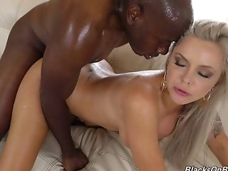Attractive Nina Elle finally has an opportunity to taste a black cock