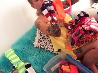 Exotic pornstar Christy Mack in horny blonde, dildos/toys adult movie