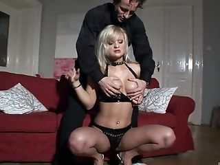 Kassey is a handcuffed blonde who wants to be drilled well