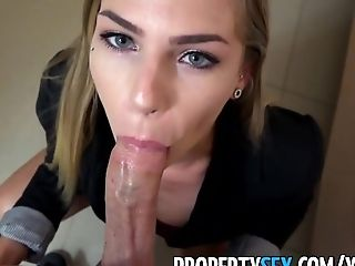 PropertySex - Wicked fine real estate agent fucks her new sugar daddy