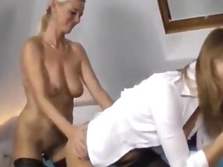 Two Very Hot MILFs Fucking Hard One Lucky Young Stundent