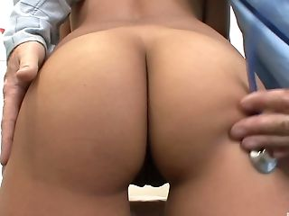 Alliyah Sky's pussy examined by a skillful doctor's dick