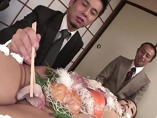 The food  fetish before licking is very welcome for Ramu Nagatsuki