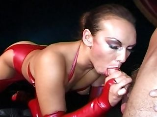 Keira Farrell is a babe in a latex outfit who wants to feel a cock