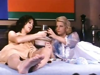 Two Swedish ladies naked on the bed getting horny for each other