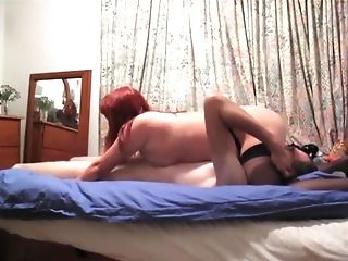 nice oral sex and fuck with redhead wife